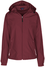 High Island High School Cardinals Ladies Jersey-Lined Hooded Windbreaker