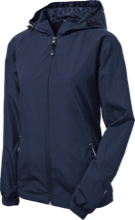 Montpelier Schools Locomotives Ladies Jersey-Lined Hooded Windbreaker