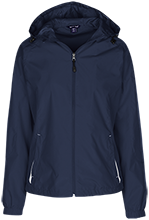 Solvay High School Bearcats Ladies Jersey-Lined Hooded Windbreaker