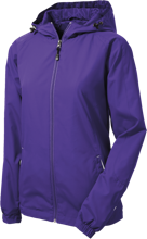 Rogers Middle School Falcons Ladies Jersey-Lined Hooded Windbreaker