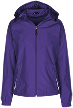 Kilby Laboratory School Lions Ladies Jersey-Lined Hooded Windbreaker