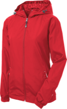 Assumption School Ladies Jersey-Lined Hooded Windbreaker