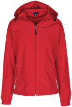 Adams Elementary School School Ladies Jersey-Lined Hooded Windbreaker
