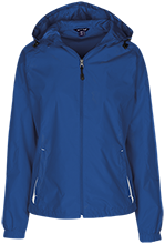 Bricker Elementary School Bobcats Ladies Jersey-Lined Hooded Windbreaker