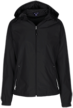 Cleaning Company Ladies Jersey-Lined Hooded Windbreaker
