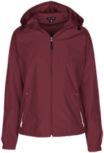 Shepherd Of The Valley Lutheran Ladies Jersey-Lined Hooded Windbreaker