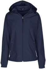 Lansing Eastern High School Quakers Ladies Jersey-Lined Hooded Windbreaker