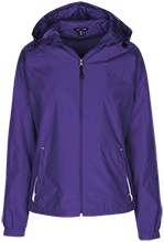 Washington Elementary School School Ladies Jersey-Lined Hooded Windbreaker