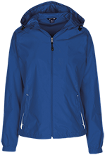 Butner Elementary School Bears Ladies Jersey-Lined Hooded Windbreaker
