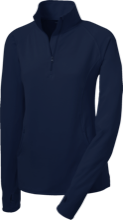 Mount Saint Joseph Catholic School Blue Angels Womens Half Zip Performance Pullover