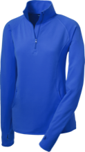 Lewiston Middle School Blue Demons Womens Half Zip Performance Pullover