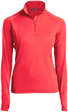 Aids Research Womens Half Zip Performance Pullover