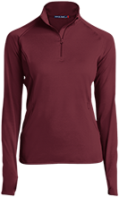 Ka'u High & Pahala Elementary School Trojans Womens Half Zip Performance Pullover