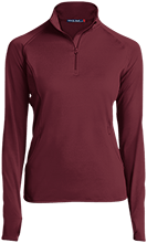 Shepherd Of The Valley Lutheran Womens Half Zip Performance Pullover