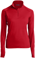 Collegiate School Cardinals Womens Half Zip Performance Pullover