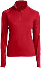 McCutchenville Elementary School Indians Womens Half Zip Performance Pullover