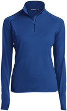 Baker Interdistrict Elementary School Broncos Womens Half Zip Performance Pullover