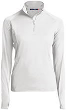 Cloverlawn Academy School Womens Half Zip Performance Pullover