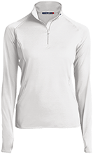 Finley Oates Elementary School Warriors Womens Half Zip Performance Pullover