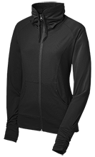 Black Hawk Middle School Panthers Womens Customized Stretch Full-Zip Jacket