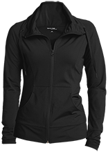 Central Middle School School Womens Customized Stretch Full-Zip Jacket