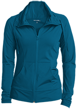 Broadview Elementary School Dolphins Womens Customized Stretch Full-Zip Jacket
