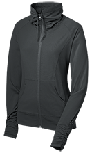 Silver Oak Academy Rams Womens Customized Stretch Full-Zip Jacket