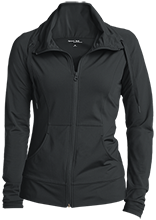 AmeriSchools Middle Academy School Womens Customized Stretch Full-Zip Jacket