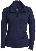 Mount Saint Joseph Catholic School Blue Angels Womens Customized Stretch Full-Zip Jacket