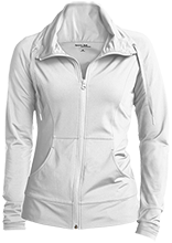 Adams Elementary School School Womens Customized Stretch Full-Zip Jacket