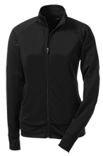M W Anderson Elementary School Roadrunners Ladies Athletic Stretch Full Zip Jacket