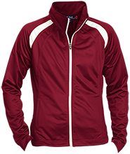Nutley High School Maroon Raiders Ladies Raglan Sleeve Warmup Jacket