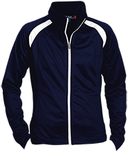 Solvay High School Bearcats Ladies Raglan Sleeve Warmup Jacket