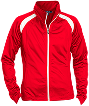 Clemmons Middle School Cardinals Ladies Raglan Sleeve Warmup Jacket