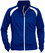 Maroa-Forsyth High School Trojans Ladies Raglan Sleeve Warmup Jacket