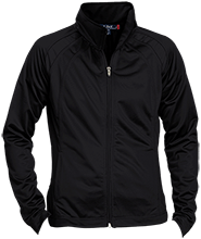 Cleaning Company Ladies Raglan Sleeve Warmup Jacket