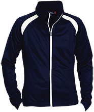 Montpelier Schools Locomotives Ladies Raglan Sleeve Warmup Jacket