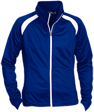Pioneer Elementary School Scouts Ladies Raglan Sleeve Warmup Jacket