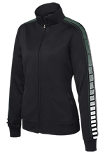 Janesville Parker High  School Vikings Ladies Dot Print Warm Up Jacket