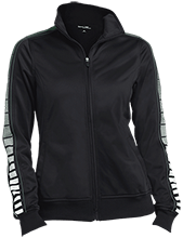 Bucks County Montessori Charter School Ladies Dot Print Warm Up Jacket