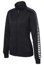 Black Hawk Middle School Panthers Ladies Dot Print Warm Up Jacket