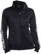 Cardinal Elementary School Bulldogs Ladies Dot Print Warm Up Jacket