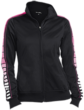 Team Ladies Dot Print Warm Up Jacket