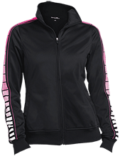 Cathedral Elementary School Wildcats Ladies Dot Print Warm Up Jacket