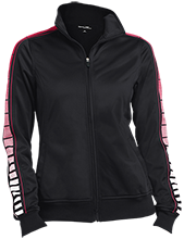Clemmons Middle School Cardinals Ladies Dot Print Warm Up Jacket