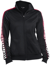 Fairview Elementary School Cardinals Ladies Dot Print Warm Up Jacket