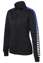 Fairfield Country Day School Crusaders Ladies Dot Print Warm Up Jacket