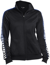 Center Street Elementary School Owls Ladies Dot Print Warm Up Jacket