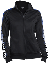 Butner Elementary School Bears Ladies Dot Print Warm Up Jacket