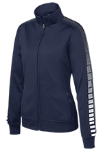 Saint John De La Salle Regional School Lions Ladies Dot Print Warm Up Jacket